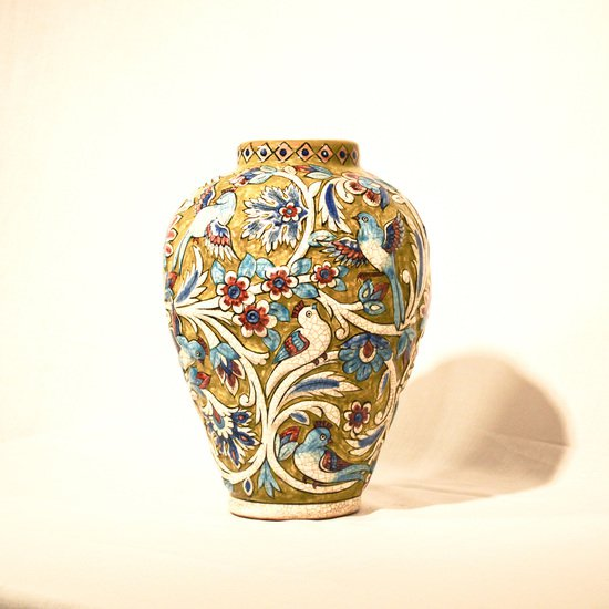 Hand painted relief vase no.8 wecanart treniq 1 1520111557082