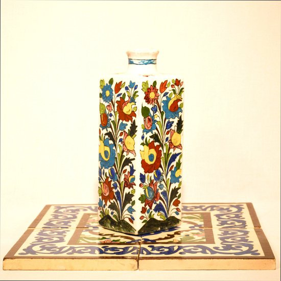 Hand painted cubic vase no.2 wecanart treniq 1 1520193989588