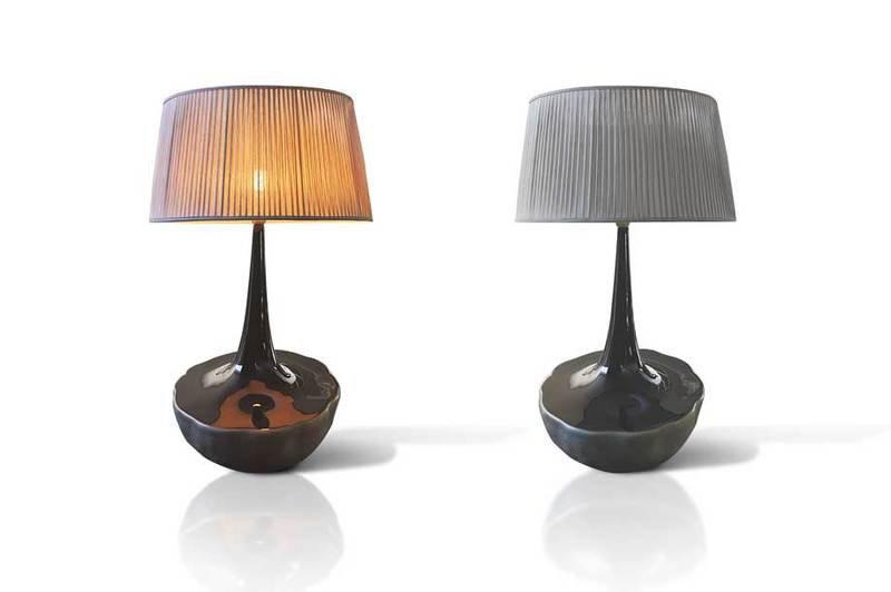 Table lamp fiberglass bronze onix 1 351 1600 1200 100