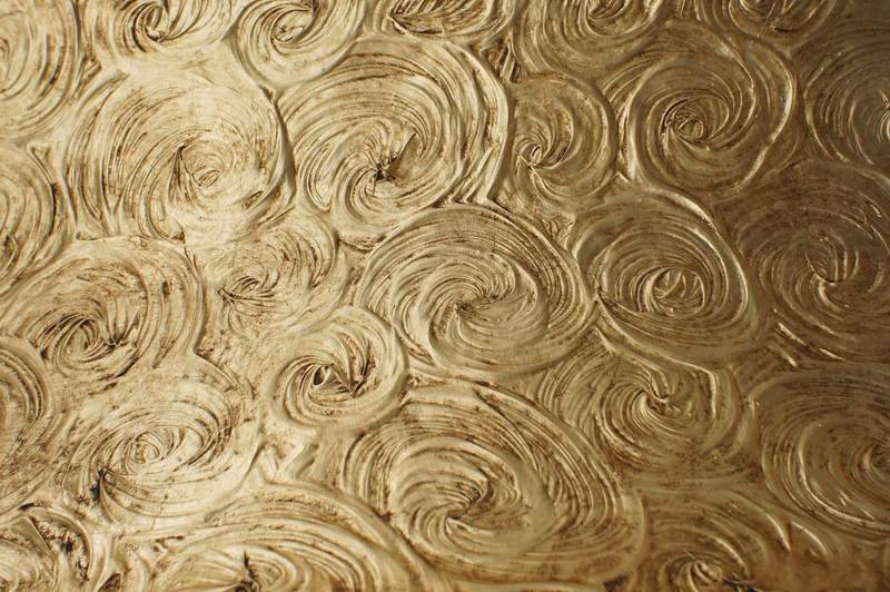 Wall panel lamp fiberglass gold leaf textured tiles 3