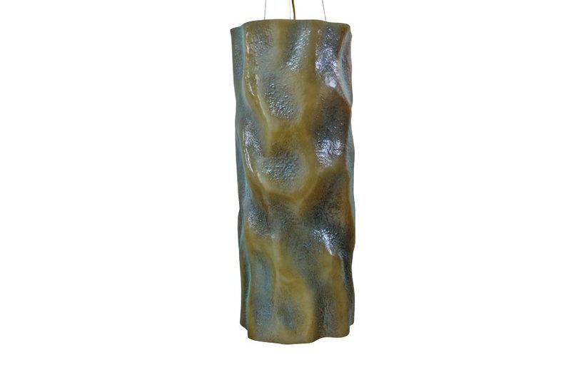 Suspension lamp aged natural ceramic vertigo 1