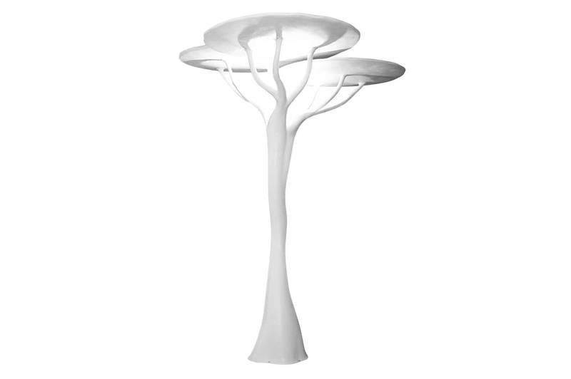Sculptural lamp fiberglass art acacia 2