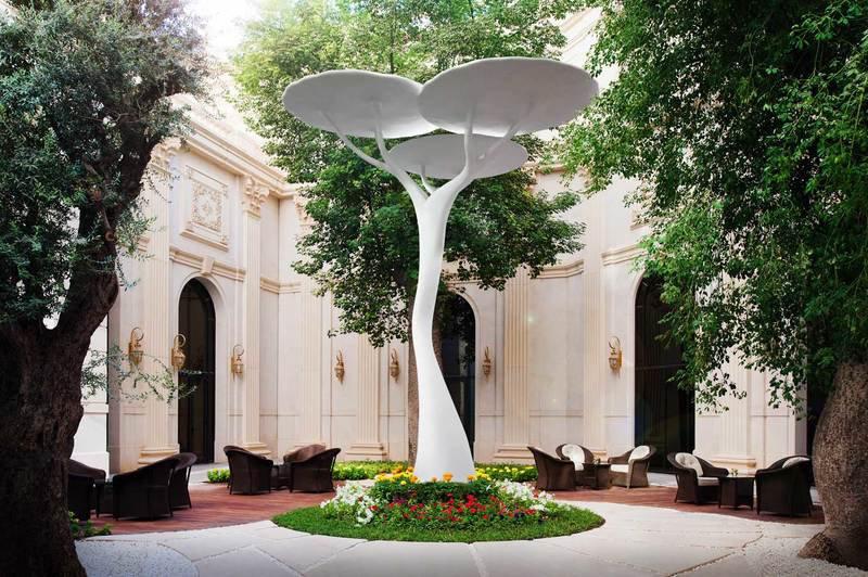 Sculptural lamp fiberglass art acacia 4