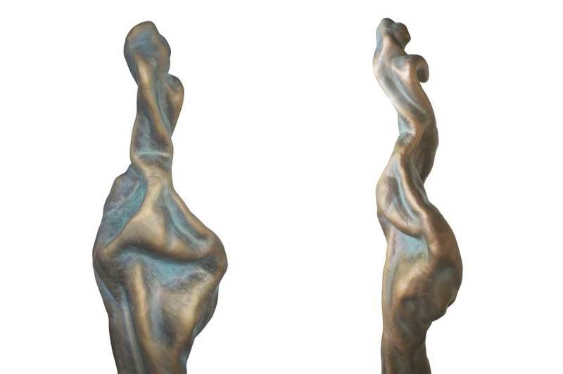 Sculpture fiberglass gold art oscar 2