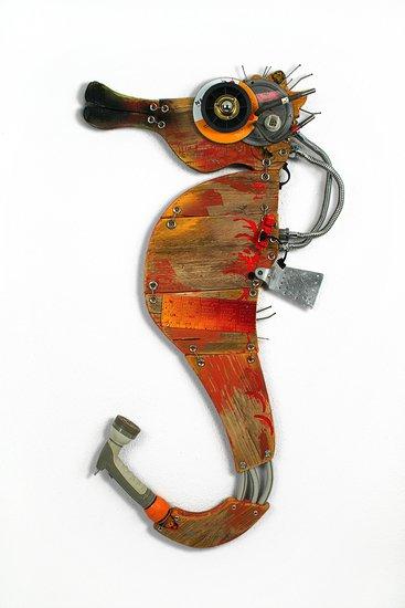 Orange seahorse scoobafish art treniq 1 1520495445115