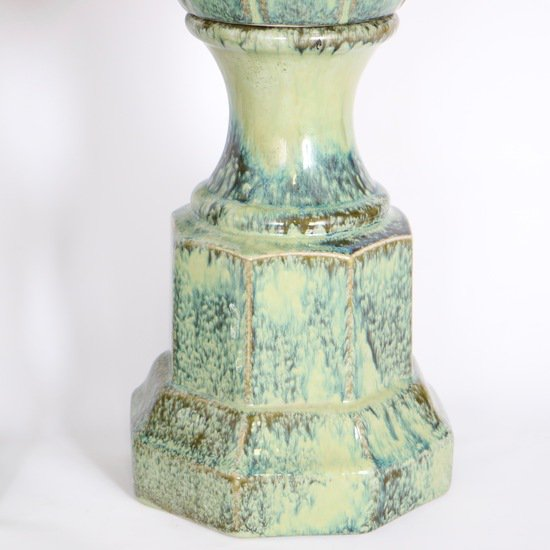 Pair of mid century majolica style porcelain baluster lamps sergio jaeger treniq 1 1520556607872