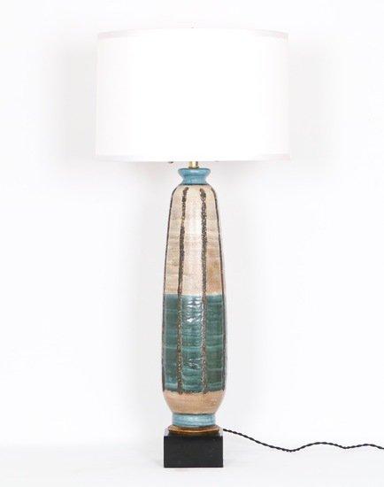 Mid century modern 1950s tall pottery lamp sergio jaeger treniq 1 1520557034682