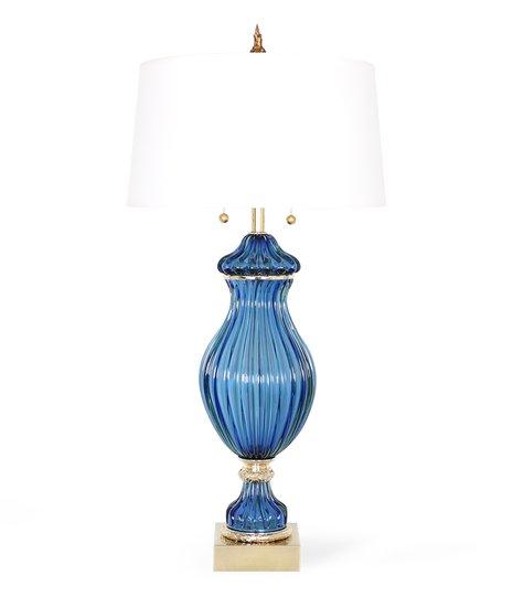 Restored seguso for marbro blue murano glass ribbed lamp sergio jaeger treniq 1 1520557688264