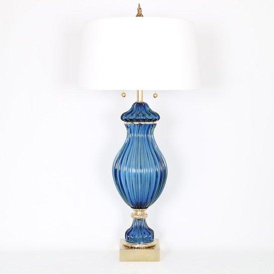 Restored seguso for marbro blue murano glass ribbed lamp sergio jaeger treniq 1 1520557705181
