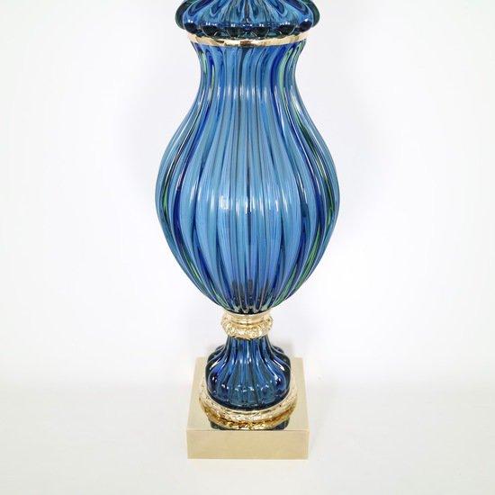 Restored seguso for marbro blue murano glass ribbed lamp sergio jaeger treniq 1 1520557705189