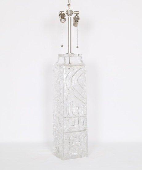 Monumental pukeberg swedish sculptural glass lamp sergio jaeger treniq 1 1520562740581