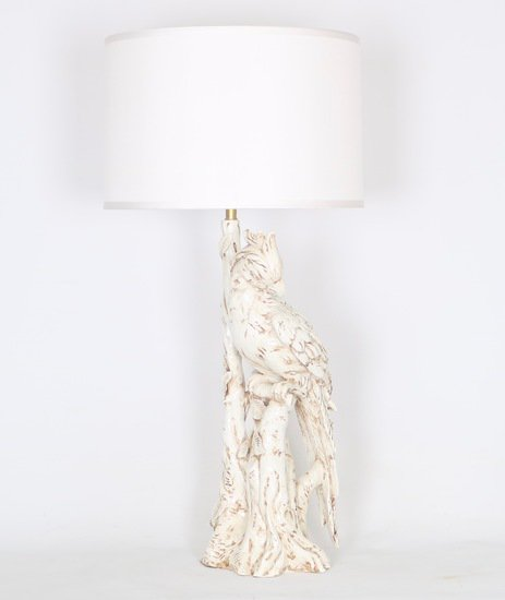 Hollywood regency italian majolica parrott lamp sergio jaeger treniq 1 1520652272328