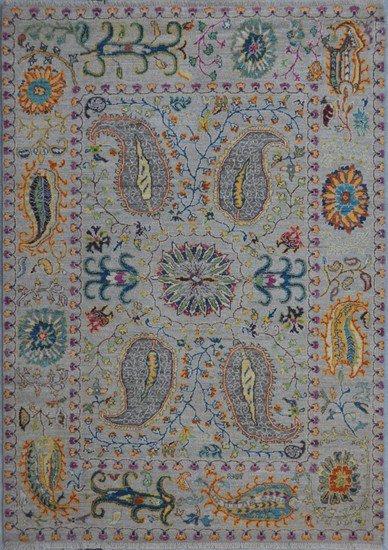 Gray suzani rug  talam   khaadi treniq 1 1520757161955