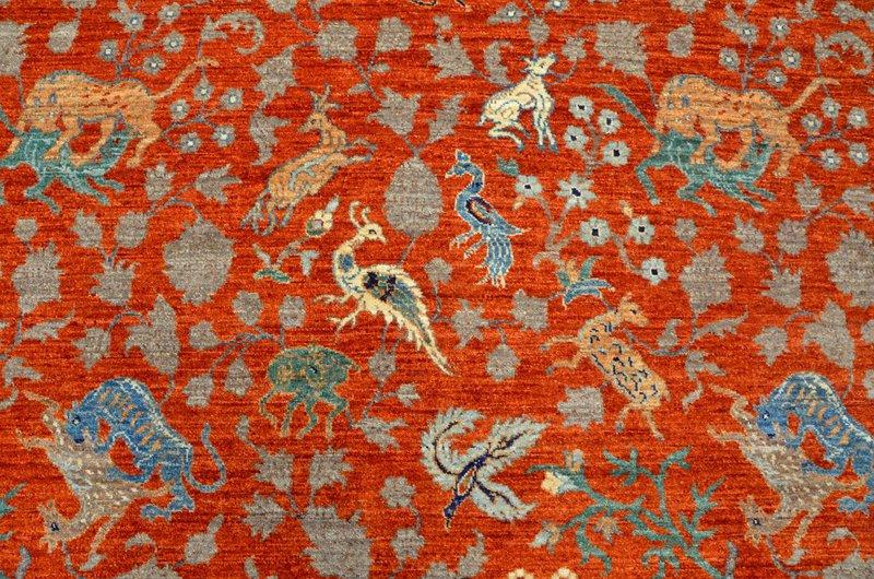 Hunting rust vibrant rug  talam   khaadi treniq 1 1520759082134
