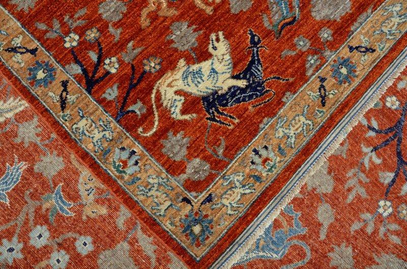Hunting rust vibrant rug  talam   khaadi treniq 1 1520759086054