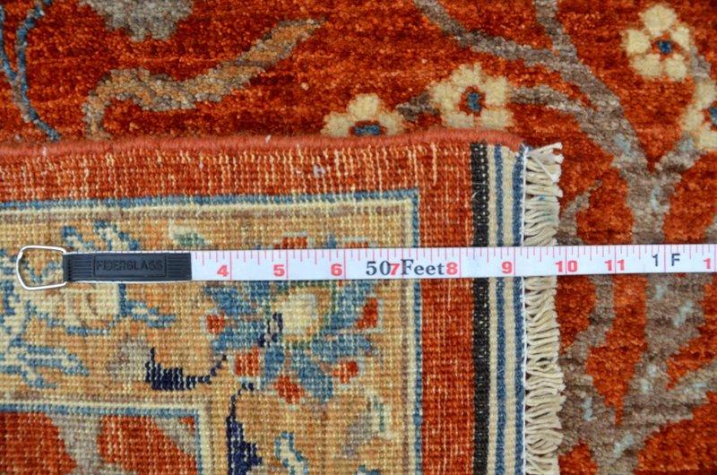 Hunting rust vibrant rug  talam   khaadi treniq 1 1520759089999