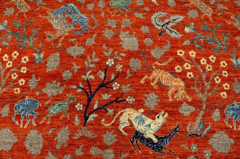 Hunting rust vibrant rug  talam   khaadi treniq 1 1520759077962