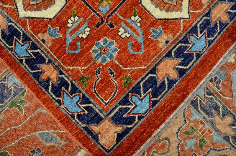 Heriz vibrant rust chobi rug  talam   khaadi treniq 1 1520761751265