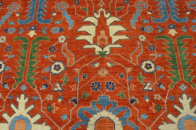 Heriz vibrant rust chobi rug  talam   khaadi treniq 1 1520761742384