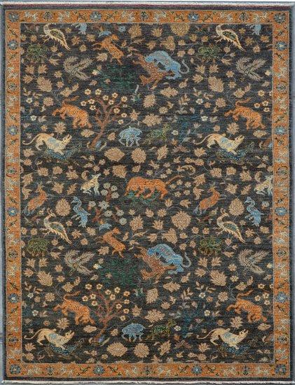 Gray vibrant chobi rug  talam   khaadi treniq 1 1520763306473