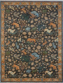 Hunting-Jungle-Gray-Vibrant-Rug-_Talam-&-Khaadi_Treniq_0