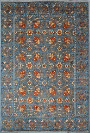 Vibrant gray chobi rug  talam   khaadi treniq 1 1520764704269