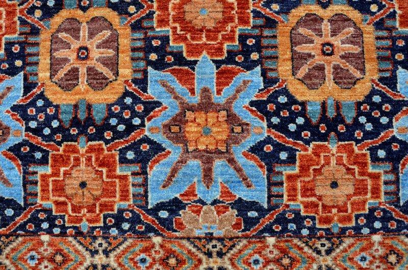 Vibrant navy chobi rug  talam   khaadi treniq 1 1520765497148