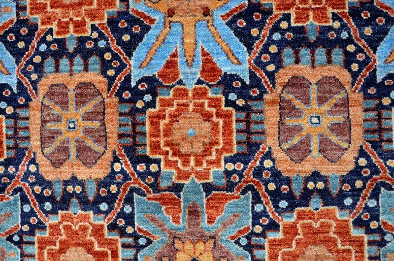 Vibrant navy chobi rug  talam   khaadi treniq 1 1520765492728