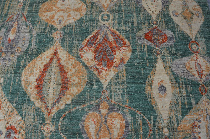 Green modern abstract rug  talam   khaadi treniq 1 1520770478731