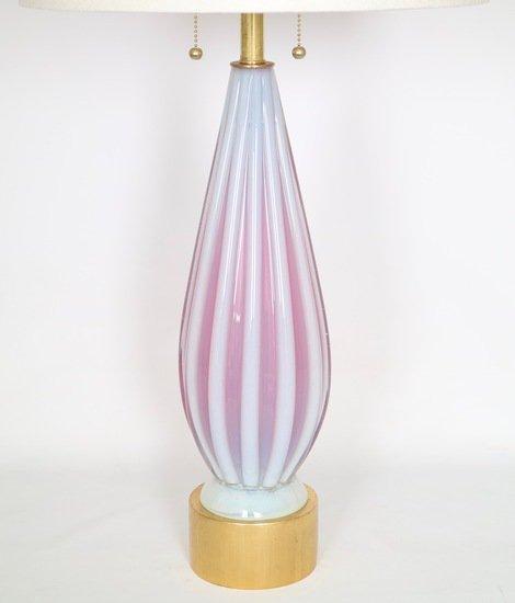 Barovier murano glass table lamp in opaline and pink sergio jaeger treniq 1 1521002645587