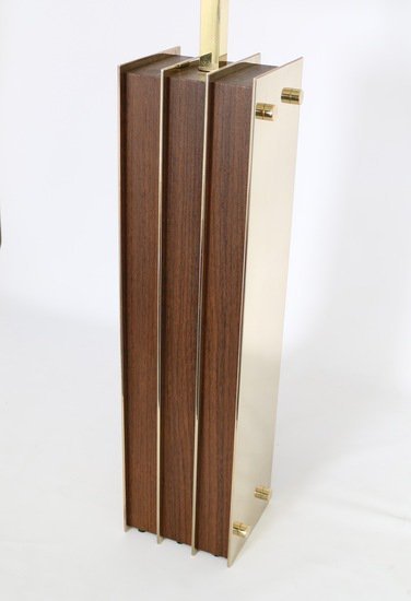 Restored mid century modern pair of lamps in brass and wood sergio jaeger treniq 1 1521006159688