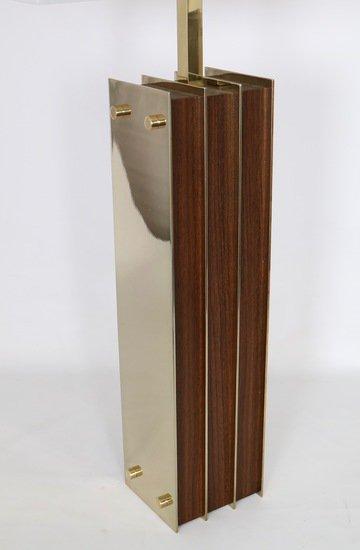 Restored mid century modern pair of lamps in brass and wood sergio jaeger treniq 1 1521006176530