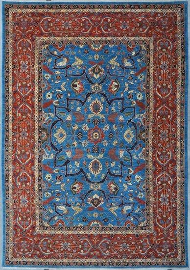 Tribal blue heriz nomadic rug talam   khaadi treniq 1 1521021428222