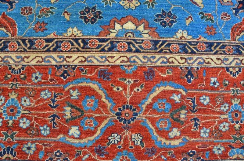 Tribal blue heriz nomadic rug talam   khaadi treniq 1 1521021434476