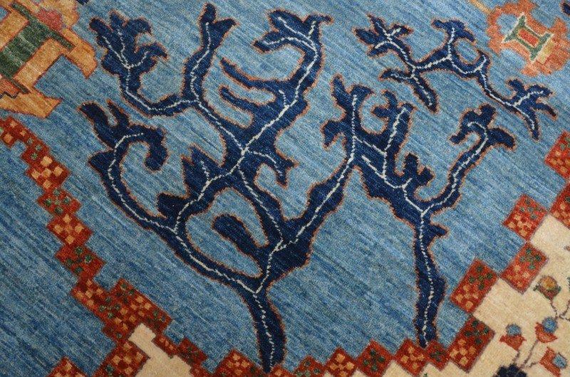 Tribal blue serapi nomadic rug talam   khaadi treniq 1 1521022286268