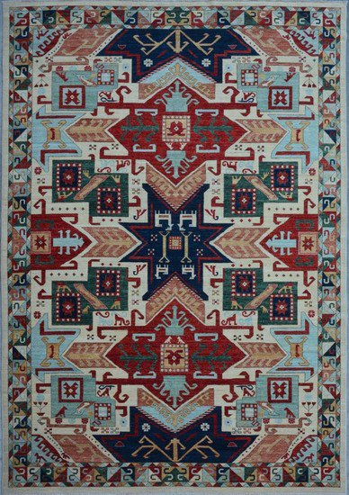 Tribal ivory geometric nomadic rug talam   khaadi treniq 1 1521026129813