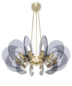 Restored-Italian-Chandelier-In-Brass-And-Blue-Glass,-Attributed-To-Fontana-_Sergio-Jaeger_Treniq_0