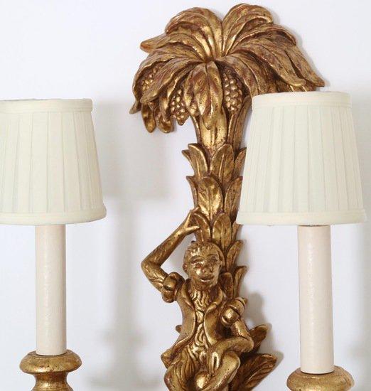 Pair of mid century italian hollywood regency gilded monkey sconces sergio jaeger treniq 1 1521049512202