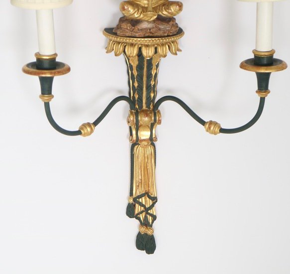 Hollywood regency blackamoor sconces in green and gold sergio jaeger treniq 1 1521049953883