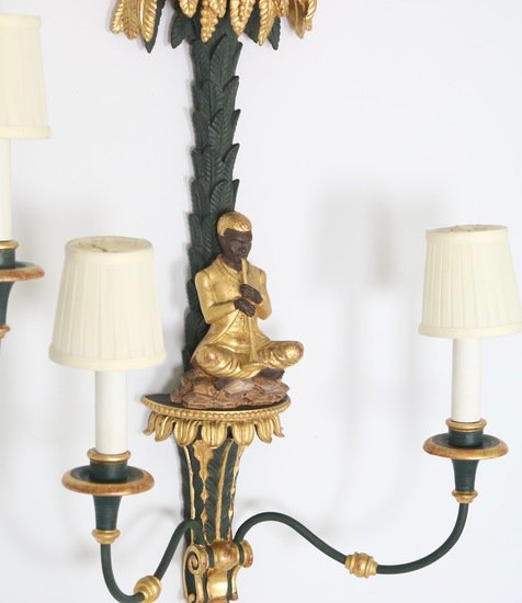 Hollywood regency blackamoor sconces in green and gold sergio jaeger treniq 1 1521049953884