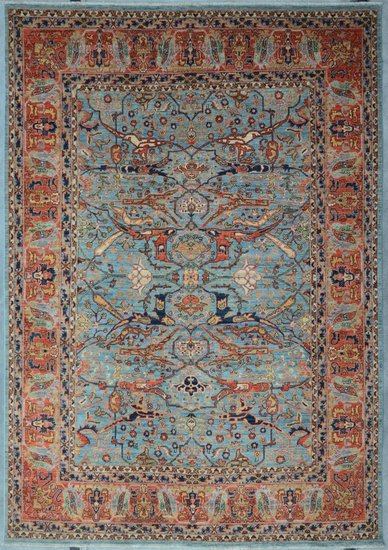 Tribal blue bijar nomadic rug talam   khaadi treniq 1 1521103141237
