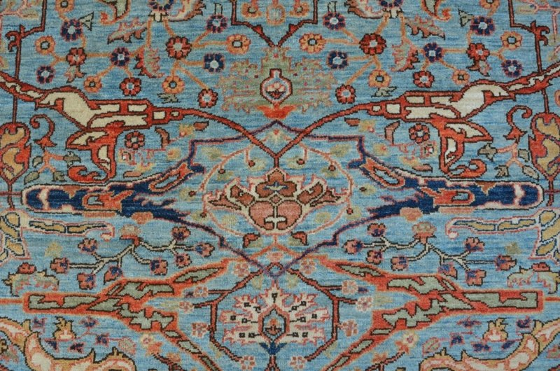 Tribal blue bijar nomadic rug talam   khaadi treniq 1 1521103150125