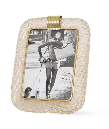 Venini torciglione murano glass frame with gold infusions sergio jaeger treniq 1 1521137394585