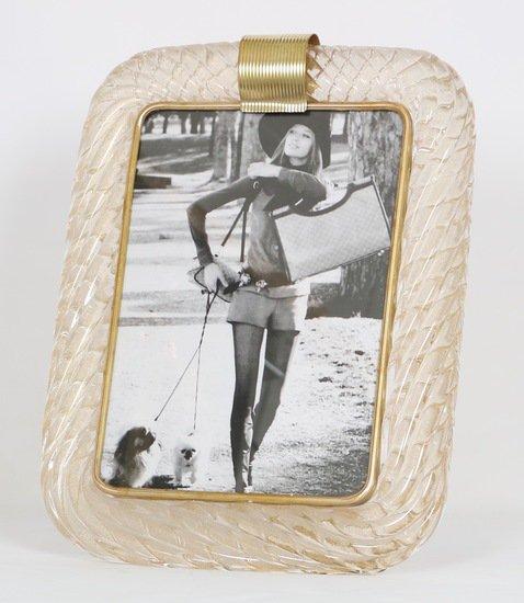 Venini torciglione murano glass frame with gold infusions sergio jaeger treniq 1 1521137443135