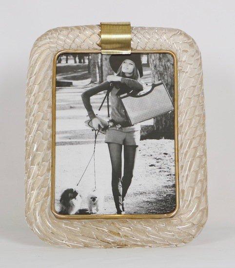 Venini torciglione murano glass frame with gold infusions sergio jaeger treniq 1 1521137443139