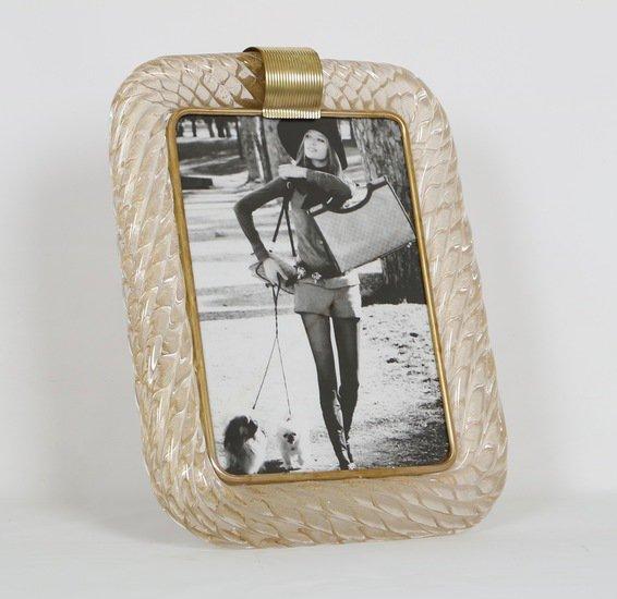 Venini torciglione murano glass frame with gold infusions sergio jaeger treniq 1 1521137443136