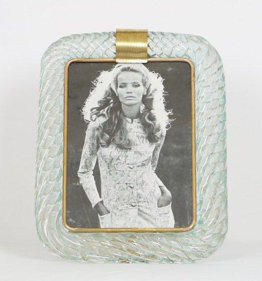 Venini torciglione murano glass frame in aqua with gold inclusions sergio jaeger treniq 1 1521137963614
