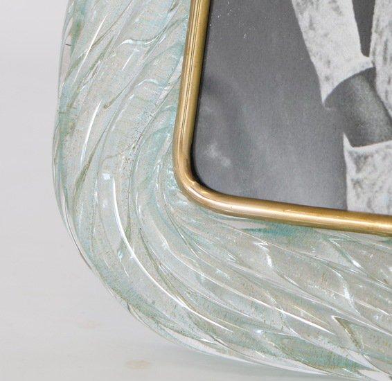 Venini torciglione murano glass frame in aqua with gold inclusions sergio jaeger treniq 1 1521137970649