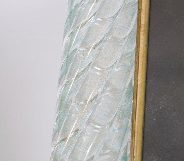 Venini torciglione murano glass frame in aqua with gold inclusions sergio jaeger treniq 1 1521137970651