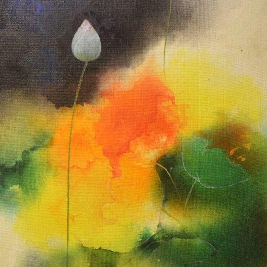 14 600x600 acrylic on canvas  lotus 1   mohi paul   %c2%a31 100
